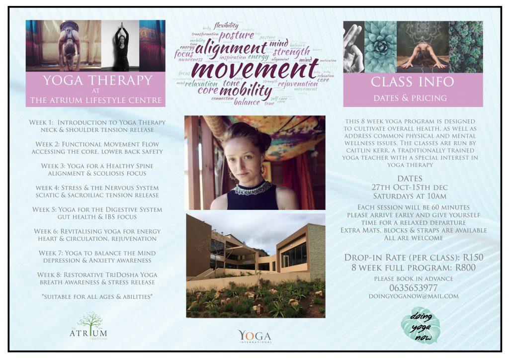 atrium yoga therapy program